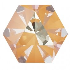 Swarovski 4699 Kaleidoscope Hexagon 9.4x10.8mm Crystal Peach DeLite (2 vnt)