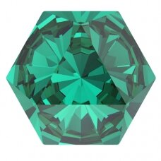 Swarovski 4699 Kaleidoscope Hexagon 9.4x10.8mm Emerald (2 vnt)