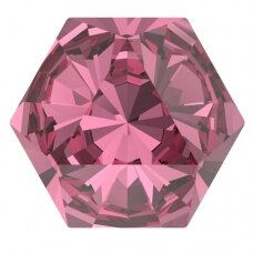 Swarovski 4699 Kaleidoscope Hexagon 9.4x10.8mm Rose (2 vnt)