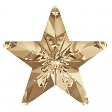 Swarovski 4745 Rivoli Star 5mm Crystal Golden Shadow (8 vnt)