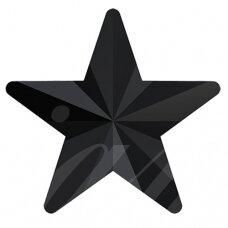 Swarovski 4745 Rivoli Star 5mm Jet unfoiled (8 vnt)