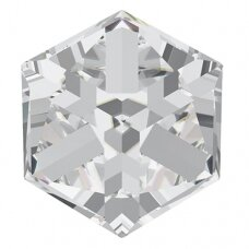 Swarovski 4841 Cube 6mm Crystal Comet Argent Light unfoiled (2 vnt)