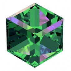 Swarovski 4841 Cube 6mm Crystal Vitrail Medium unfoiled (2 vnt)