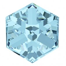 Swarovski 4841 Cube 8mm Aquamarine Comet Argent Light unfoiled