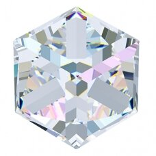 Swarovski 4841 Cube 8mm Crystal AB Comet Argent Light unfoiled