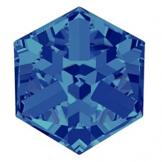 Swarovski 4841 Cube 8mm Crystal Bermuda Blue unfoiled