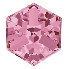 Swarovski 4841 Cube 8mm Light Rose Comet Argent Light unfoiled