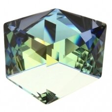 Swarovski 4933 Tilted Dice 27mm Crystal Sahara Comet Argent Light