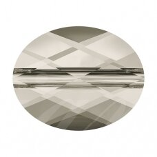 Swarovski 5051 Mini Oval 10x8mm Crystal Silver Shade