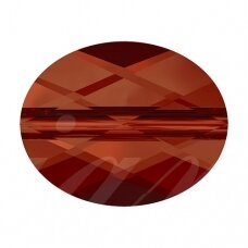 Swarovski 5051 Mini Oval 8x6mm Crystal Red Magma (2 vnt)