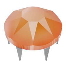 Swarovski 53301 Rose Pin 2038 XILION Rose SS10 (2.8mm) Crystal Electric Orange - Metalinė dalis plieno spalvos (40 vnt)