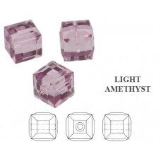 Swarovski 5601 Cube 8mm Light Amethyst