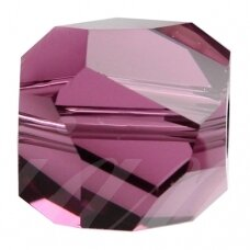 Swarovski 5603 Graphic Cube 8mm Amethyst (2 vnt)
