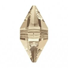 Swarovski 5747 Double Spike 12x6mm Crystal Golden Shadow (2 vnt)