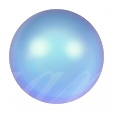 Swarovski 5817 Cabochon pusiau įgrežti 8mm Iridescent Light Blue (6 vnt)