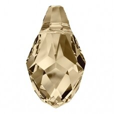 Swarovski 6007 Small Briolette 9x5mm Crystal Golden Shadow (2 vnt)