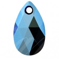 Swarovski 6106 Pear 16mm Crystal Metallic Blue