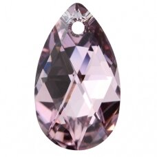 Swarovski 6106 Pear 22mm Light Amethyst Comet Argent Light