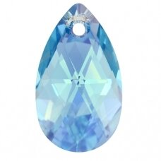 Swarovski 6106 Pear 28mm Aquamarine AB
