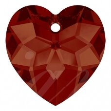 Swarovski 6215 Heart 18mm Crystal Red Magma