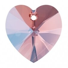 Swarovski 6228 XILION Heart 10.3x10mm Rose Peach Shimmer (4 vnt)