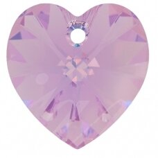 Swarovski 6228 XILION Heart 14.4x14mm Light Amethyst AB (2 vnt)