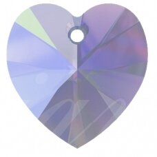 Swarovski 6228 XILION Heart 14.4x14mm Tanzanite Moonlight (2 vnt)
