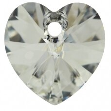Swarovski 6228 XILION Heart 18x17.5mm Crystal Comet Argent Light