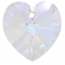 Swarovski 6228 XILION Heart 40mm Crystal Blue AB
