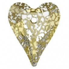 Swarovski 6240 Wild Heart 17mm Crystal Gold Patina
