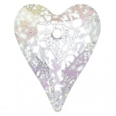 Swarovski 6240 Wild Heart 27mm Crystal White Patina