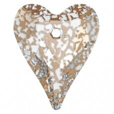 Swarovski 6240 Wild Heart 37mm Crystal Rose Patina
