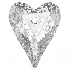 Swarovski 6240 Wild Heart 37mm Crystal Silver Patina
