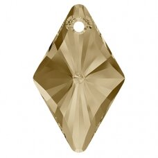 Swarovski 6320 Rhombus 14mm Crystal Golden Shadow