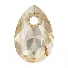 Swarovski 6433 Pear Cut 16mm Crystal Golden Shadow