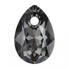 Swarovski 6433 Pear Cut 16mm Crystal Silver Night