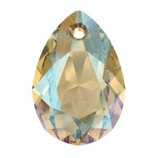 Swarovski 6433 Pear Cut 16mm Light Colorado Topaz Shimmer