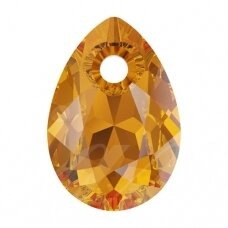 Swarovski 6433 Pear Cut 16mm Topaz