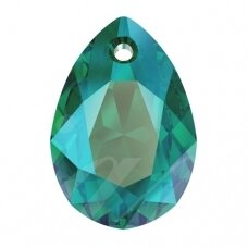 Swarovski 6433 Pear Cut 9mm Emerald Shimmer (2 vnt)