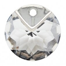 Swarovski 6566 Metallic Cap Round 16mm Crystal Light Chrome