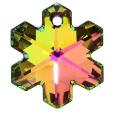 Swarovski 6704 Snowflake 20mm Crystal Vitrail Medium