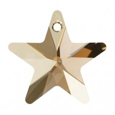 Swarovski 6715 Star 20mm Crystal Golden Shadow