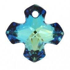 Swarovski 6867 Greek Cross 14mm Crystal Bermuda Blue