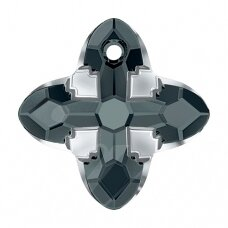 Swarovski 6868 Cross Tribe 14mm Graphite Light Chrome