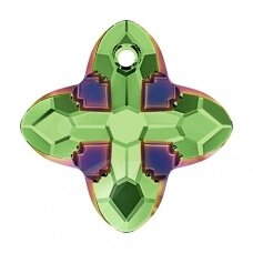 Swarovski 6868 Cross Tribe 14mm Peridot Scarabaeus Green