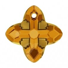 Swarovski 6868 Cross Tribe 24mm Topaz Dorado