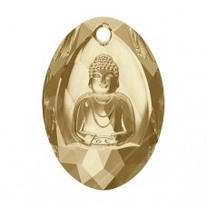 Swarovski 6871 Buddha 28x19.8mm Crystal Golden Shadow
