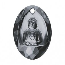 Swarovski 6871 Buddha 28x19.8mm Crystal Silver Night