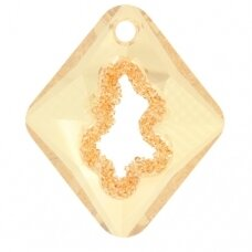 Swarovski 6926 Growing Rhombus 36mm Crystal Golden Shadow