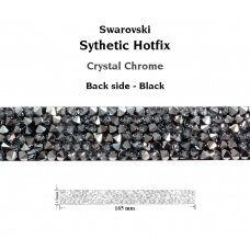 Swarovski 72036 Crystal Rock Hotfix 165x13mm Crystal Chrome - Juoda apačia (1 vnt)